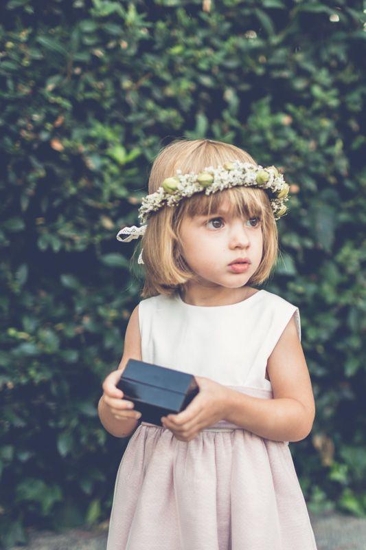 Corona De Flores Para Niña Una Boda En Septiembre En La