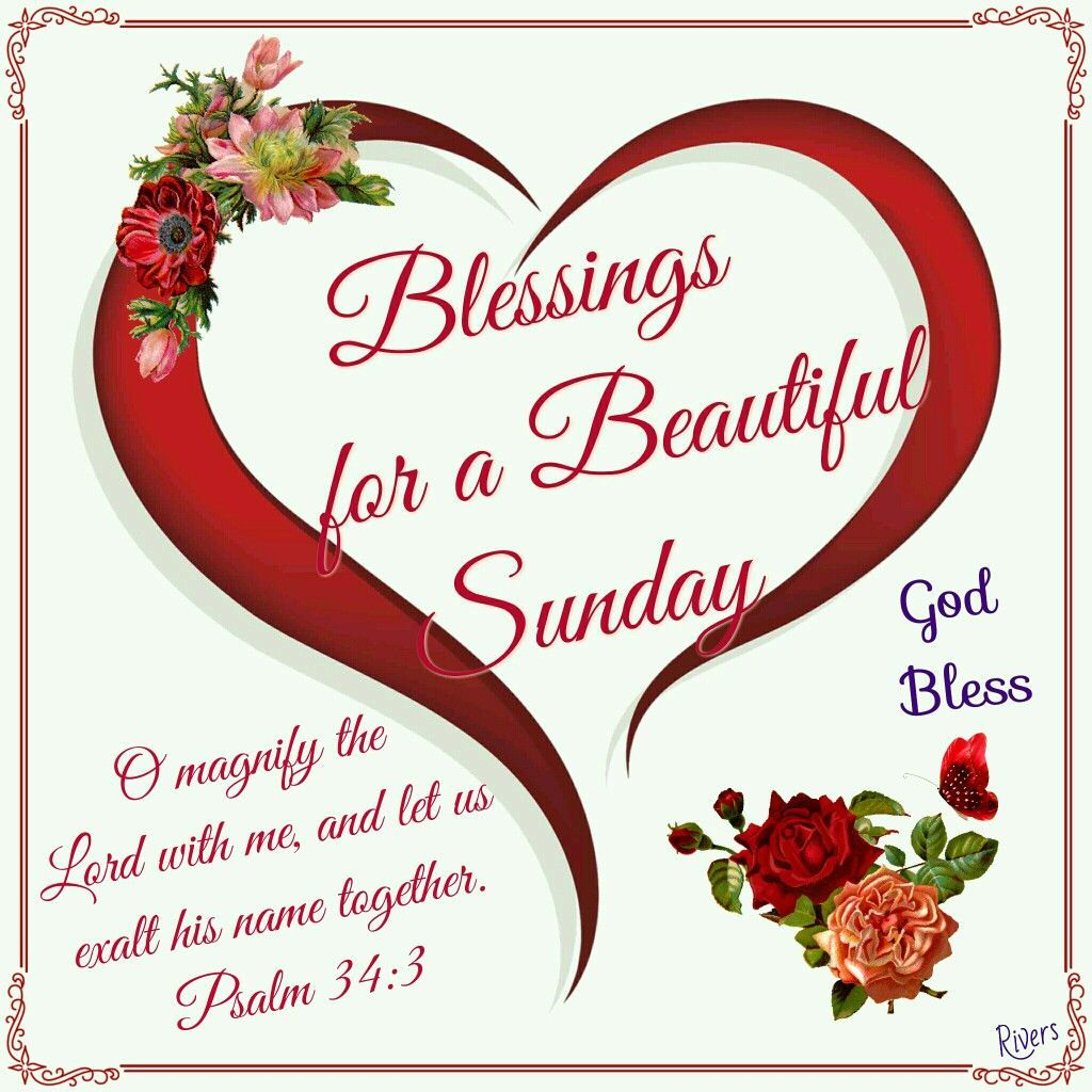 Blessings For A Beautiful Sunday   Happy sunday quotes, Sunday ...