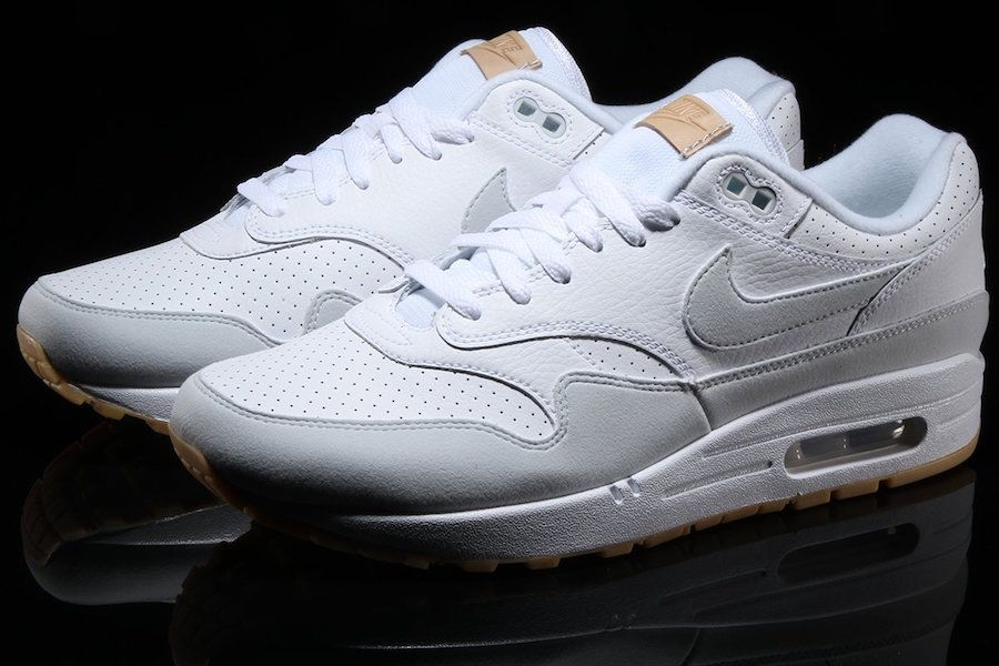 805dd2a856 Nike Air Max 1 White Pure Platinum Gum AH8145-103 | Kicks | Nike Air ...