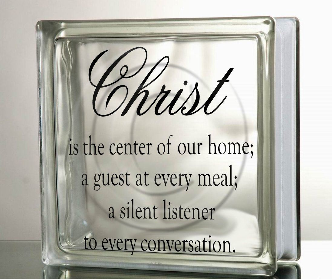 Christ Center Of Home Glass Block Decal Tile Mirrors DIY Decal For - How to make vinyl decals for glass blocks