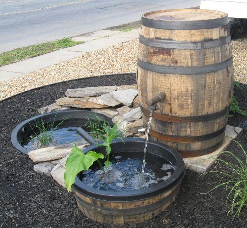 Whiskey Barrel Water Garden Water Garden Whiskey Barrel Whiskey Barrel Fountain