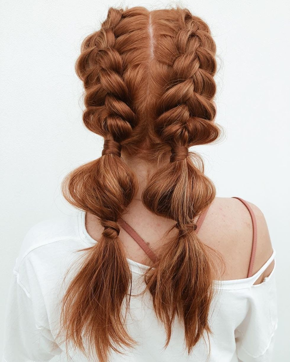 9 Bubble Braids That Ll Have You Reaching For Your Hair Ties In 2020 Coachella Hair Braided Hairstyles Hair Styles