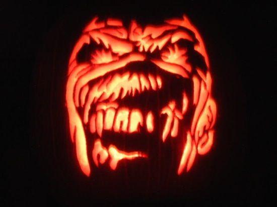 Iron Maiden Eddie Pumpkin Iron Maiden Metal Pumpkins Pumpkin