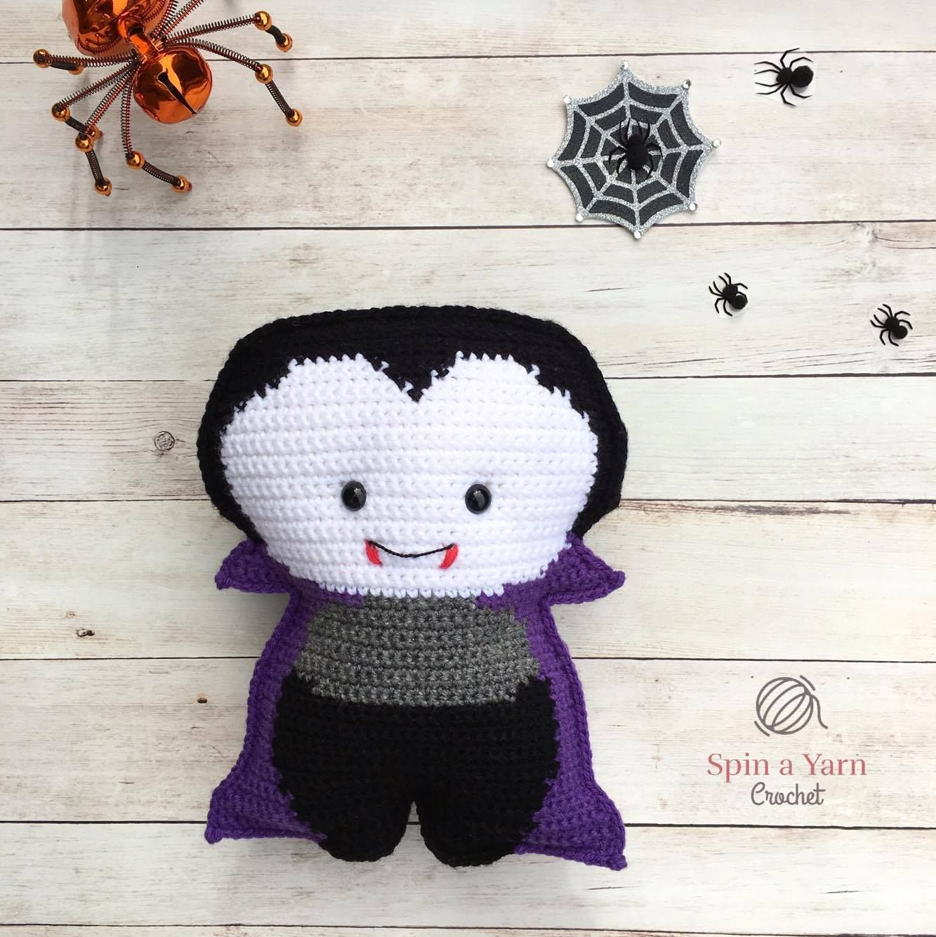 Vampire Amigurumi Free Crochet Pattern • Spin a Yarn Crochet | free ...
