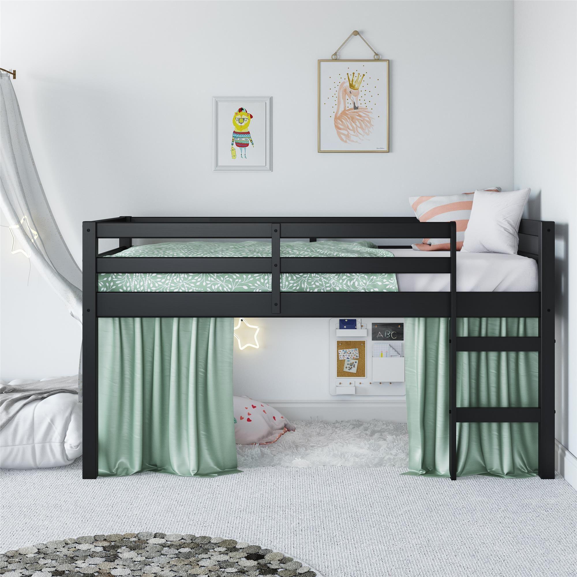 Free 2 Day Shipping Buy Dorel Living Benson Junior Twin Loft Bed