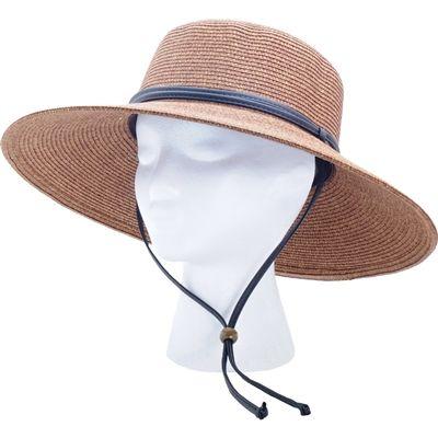 9c028d5d15e Sloggers Women s Braided Hat with Win Lanyard Dark Brown UPF 50+ Maximum Sun  Protection