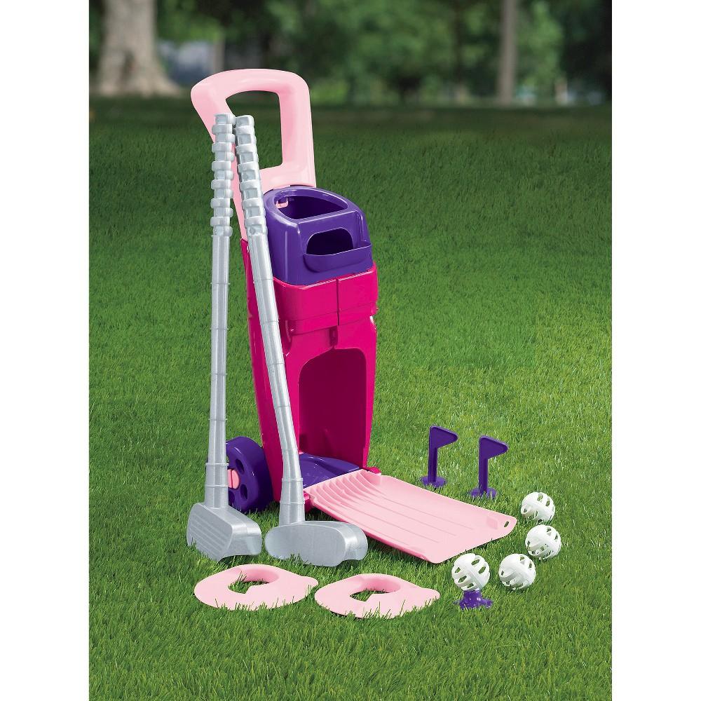 American plastic toys jr pro golf set pink pro golf