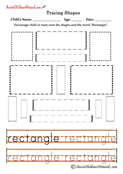 tracing shapes worksheets RECTANGLES | shapes | Pinterest ...
