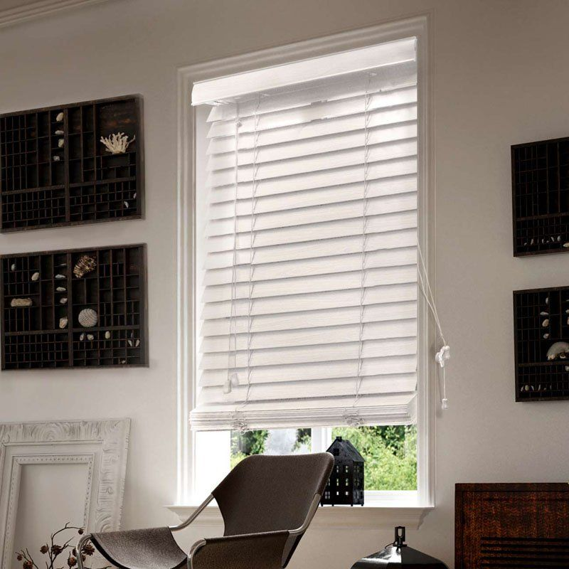 Chicology Faux Wood Window Blind White FWSW2364 Faux