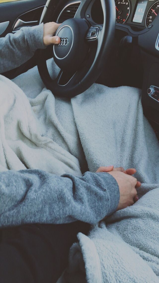 Couple Holding Hands In The Car In The Front Seats My Faith And