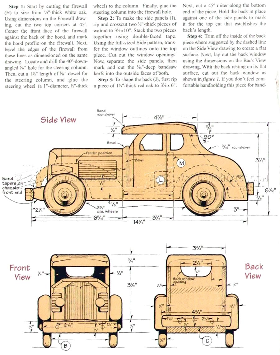 wooden deuce coupe plan smart wooden toy projects you can do