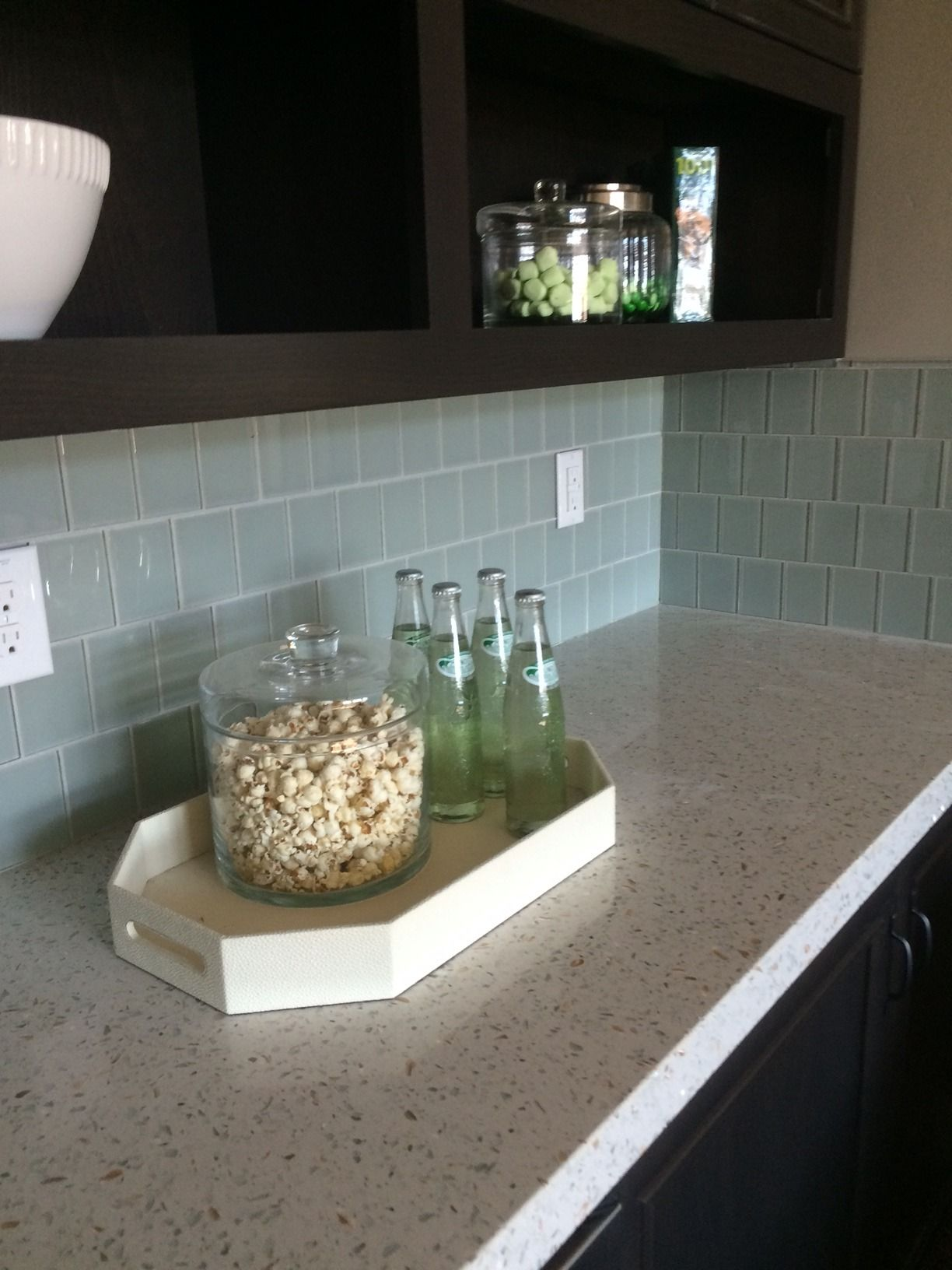 Curava Recycled Glass Countertops Curava Countertop With Glass Backsplash River Bath
