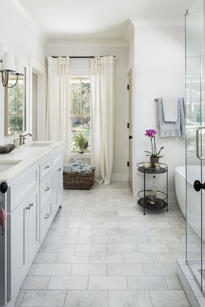Craftsman New Construction Design White Marble Bathrooms Marble Bathroom Floor Bathrooms Remodel