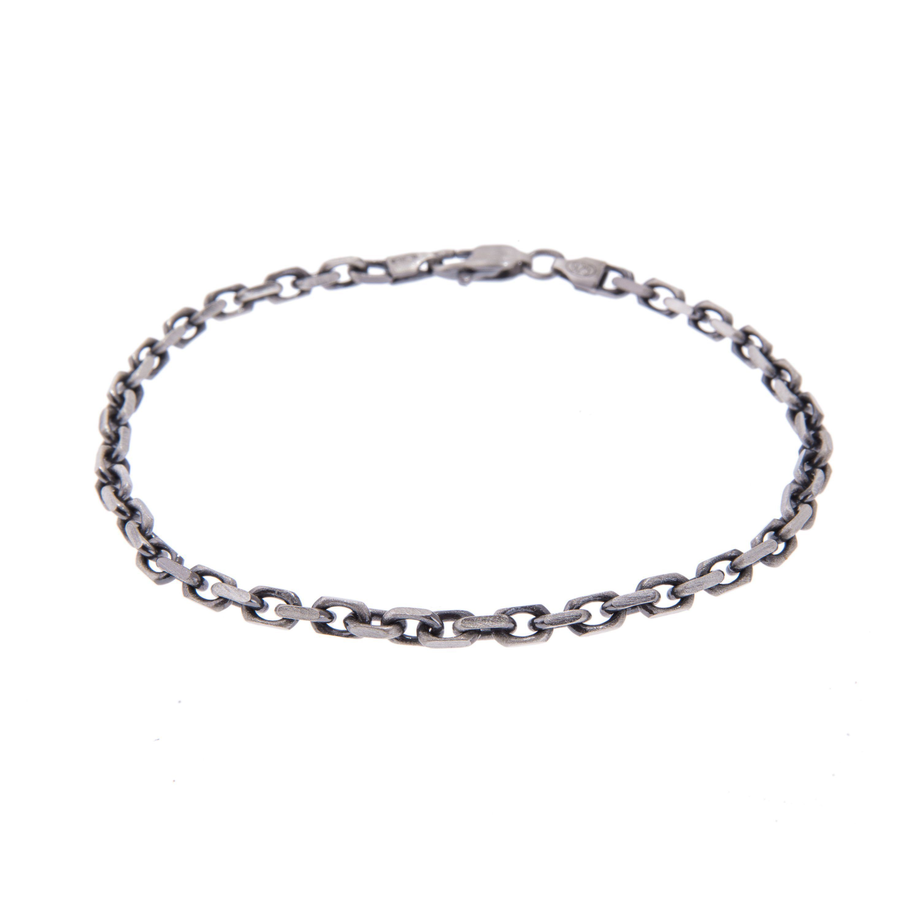 d51b039c28e STERLING SILVER CHAIN BRACELET IN GUNMETAL #accessories #jewellery  #italiandesign #thinkpositivefashioncafe #silver