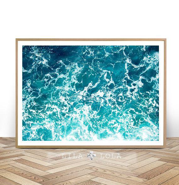 ocean art print digital download coastal beach decor large printable wall art beach art. Black Bedroom Furniture Sets. Home Design Ideas