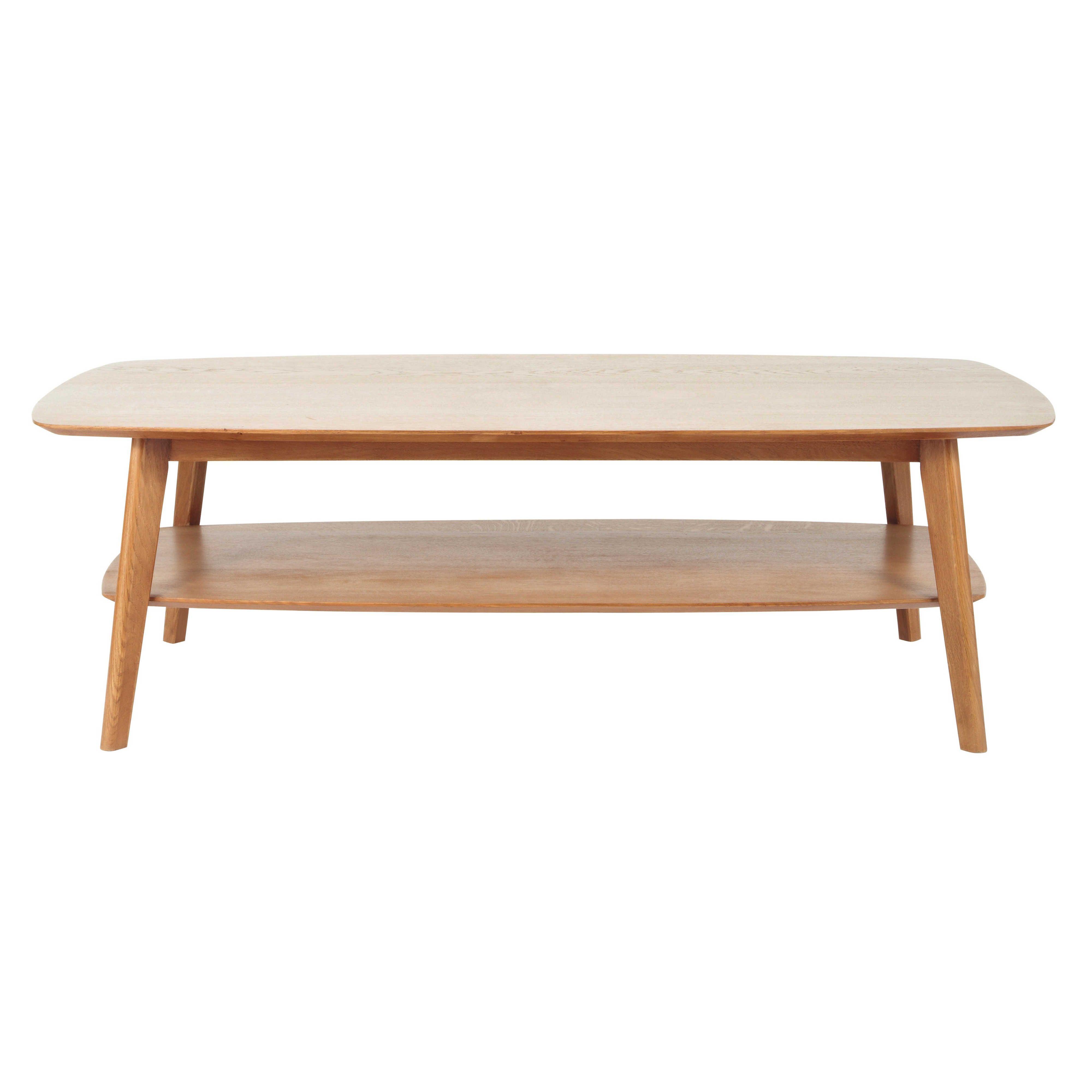Table Basse En Chêne Massif L 130 Cm Portobello Tables Basses
