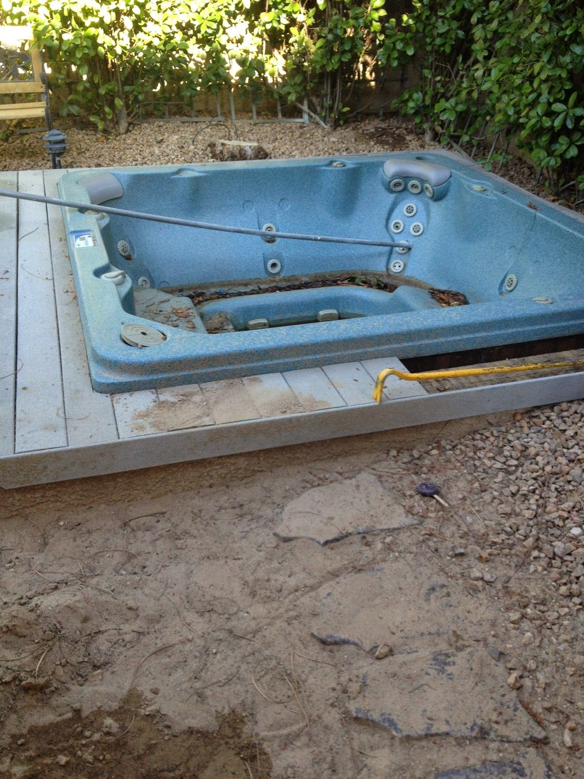 The Pick Up Artist Junk Removal 702 600 6994 Buried Hot Tub Removal In Henderson Tub Hot Tub Junk Removal