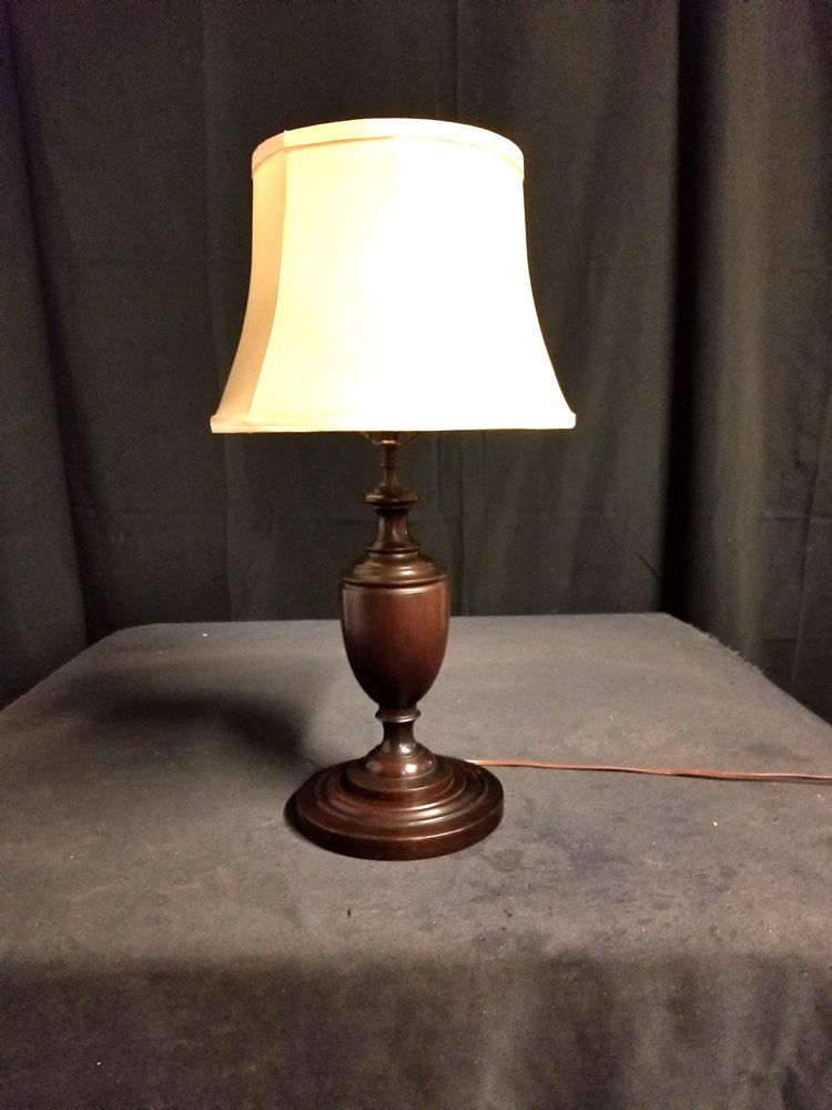 Antique Wooden Table Lamp
