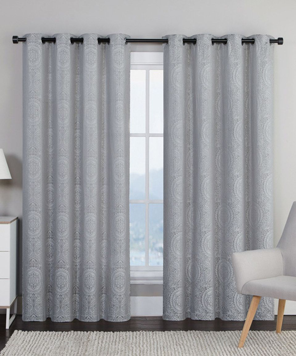 Gray curtains bedroom look what i found on zulily gray utopia curtain panel  set of two