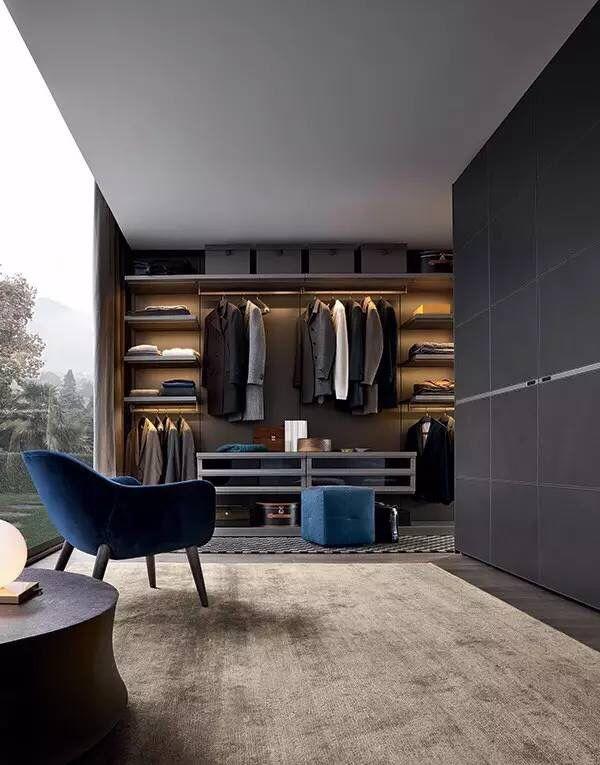 Closet. AnkleidezimmerBegehbarer KleiderschrankModerne HäuserRegalRaum SchlafzimmerArchitekturWohnenKleiderschrank
