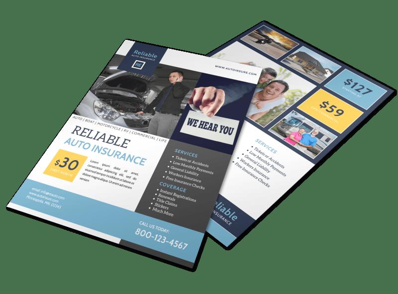 Insurance Flyer Templates Mycreativeshop Car Insurance Best Health Insurance Insurance