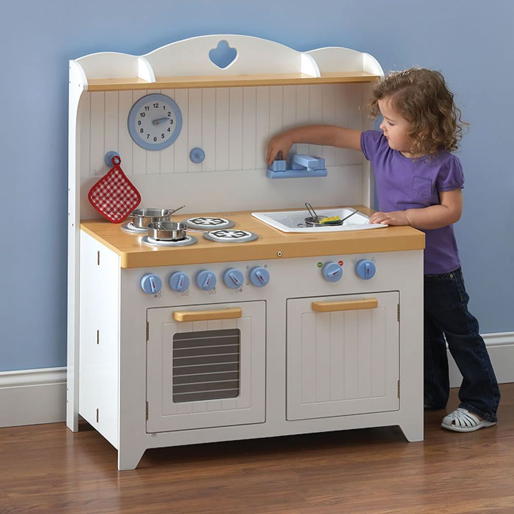 The Young Chef S Foldaway Kitchen Playset Hammacher Schlemmer