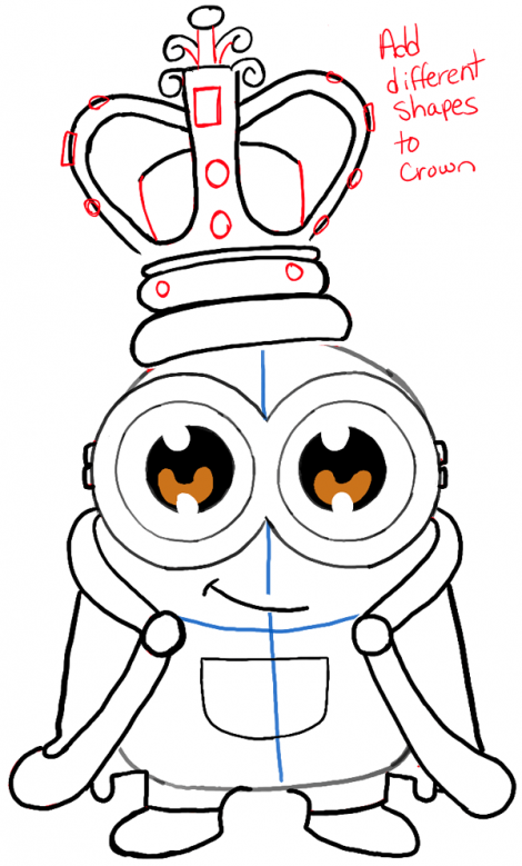Kleurplaten Minions Kevin.How To Draw Cute Chibi King Bob From The Minions Movie With Easy