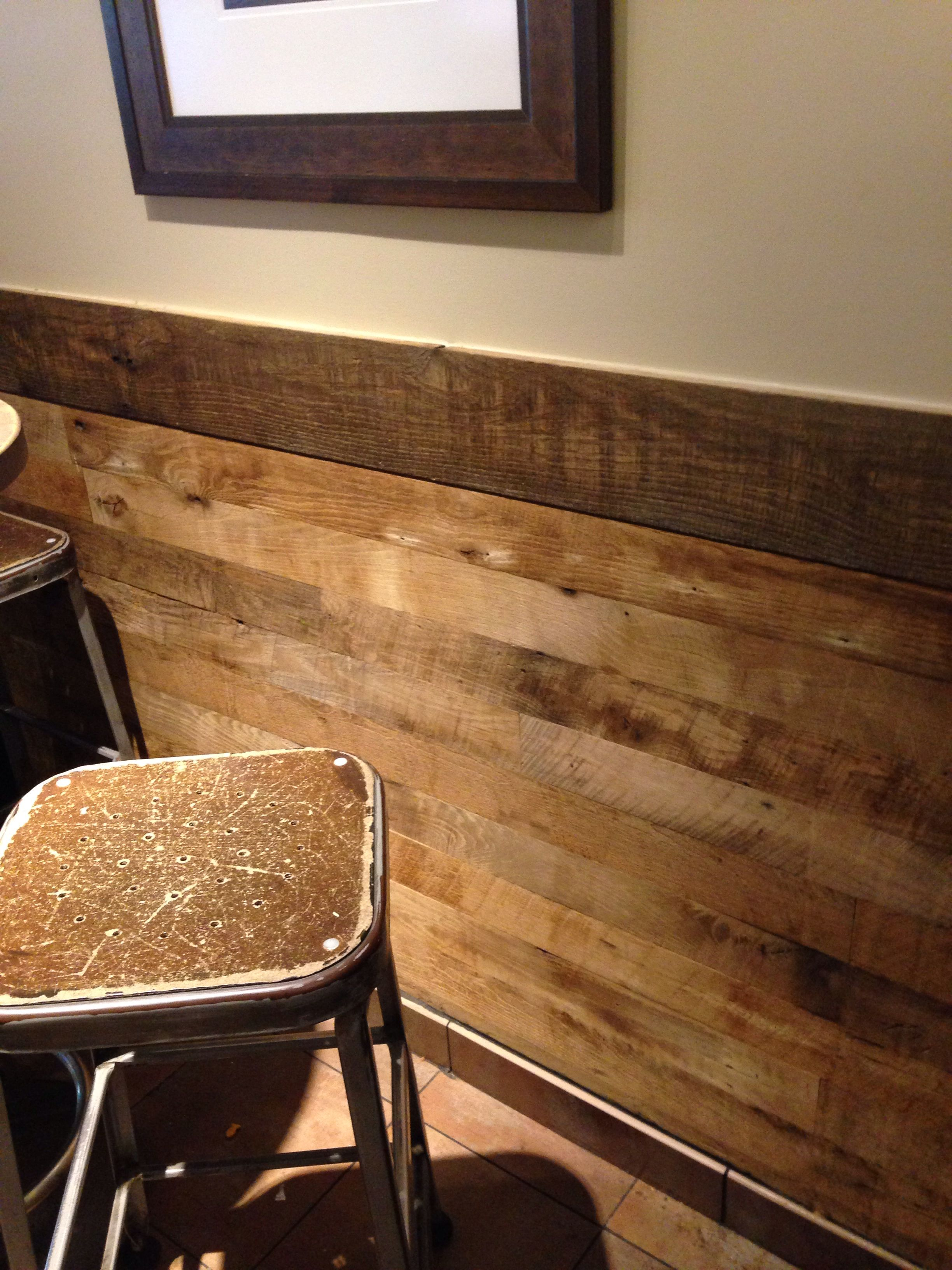 Wood Paneling Chair Rail Part - 46: Loving This Reclaimed Wood Chair Rail. Rustic And Modern All In One.