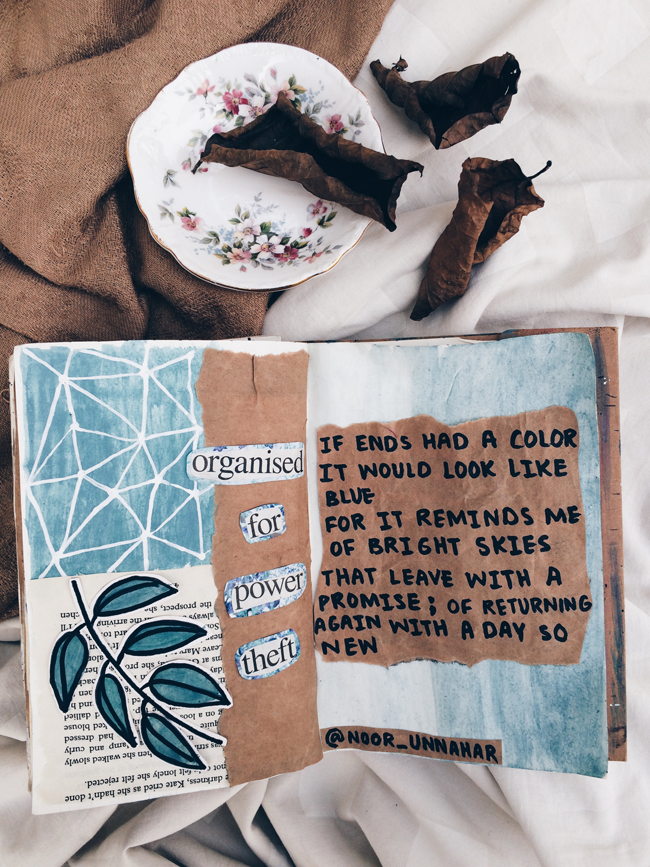Art Journal Entries Poetry From Noor Unnahar Aesthetically Pleasing Tumblr Like Diy Craft And Quotes You Gotta Check