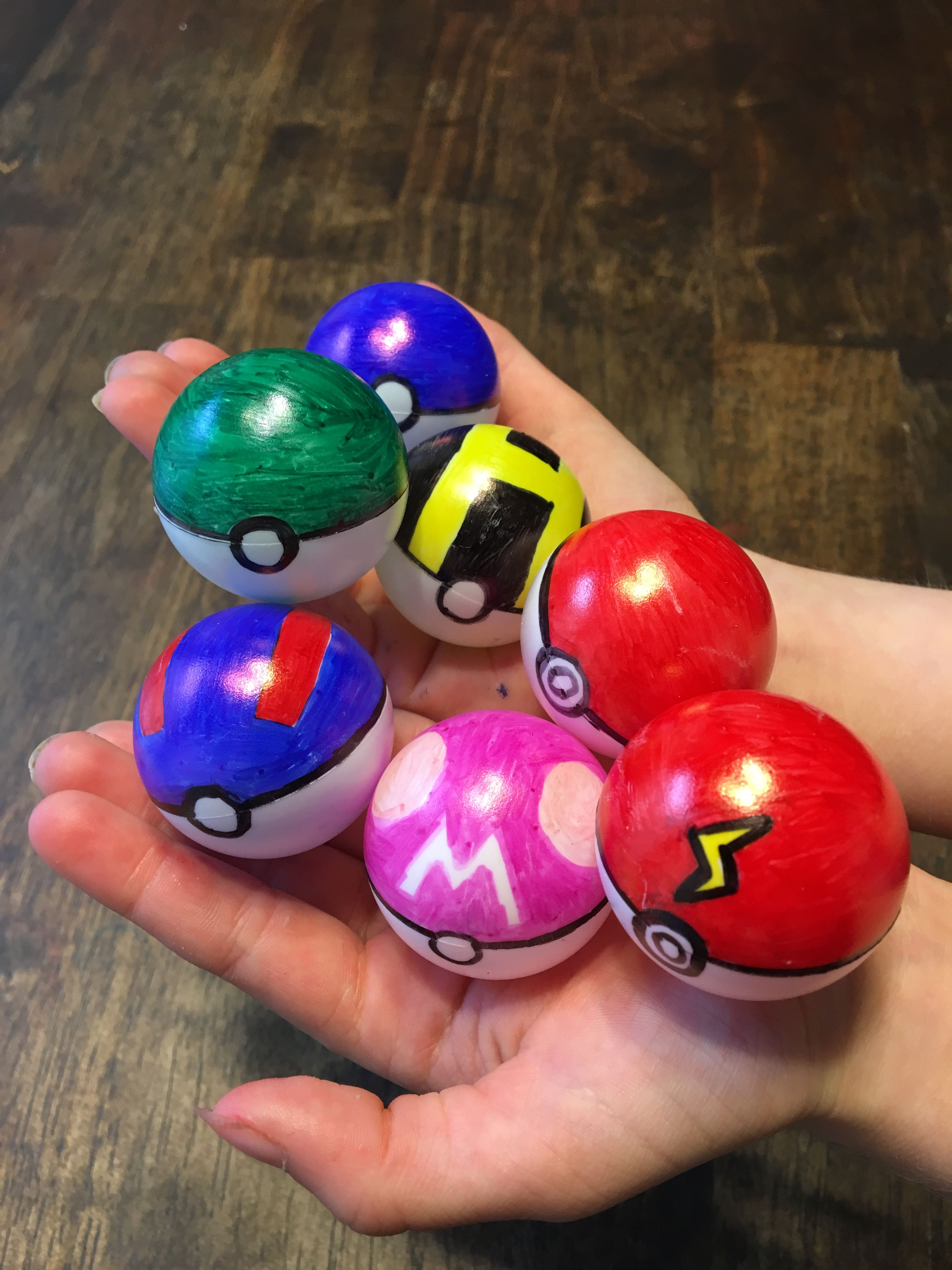 Simply Color Ping Pong Balls With Sharpies To Look Like Pokemon