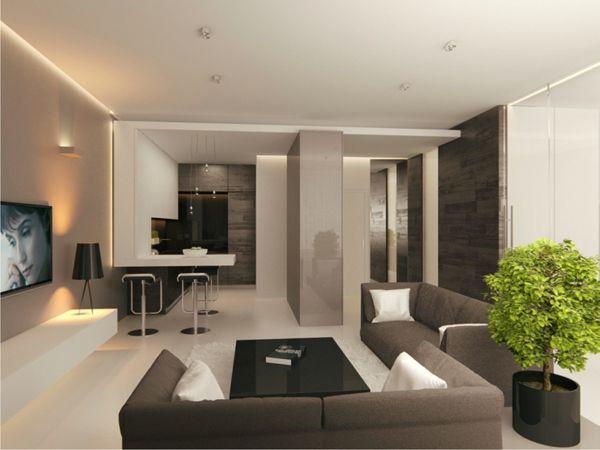 Steintisch wohnzimmer ~ Prächtig modern wohnzimmer designs grau couch tisch idee
