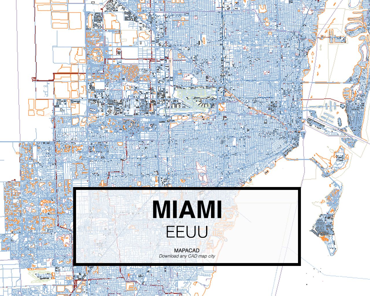 Miami eeuu download cad map city in dwg ready to use in autocad download cad map city in dwg ready to use in autocad gumiabroncs Image collections