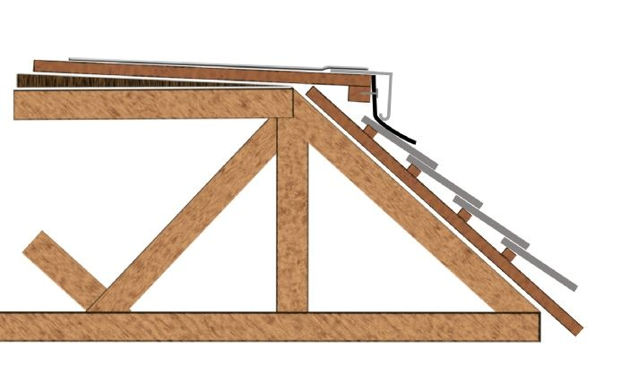 Flat Roof With Mansard Drawing Detail Google Search Roofs