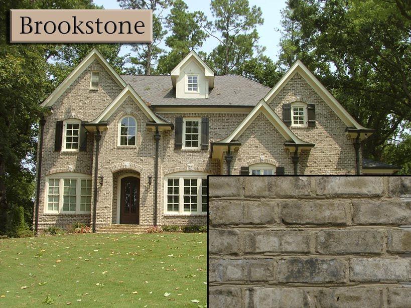 Brookstone Brick With White Morter Exterior Design House Styles Brick Colors