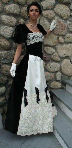 19th century styled velvet
