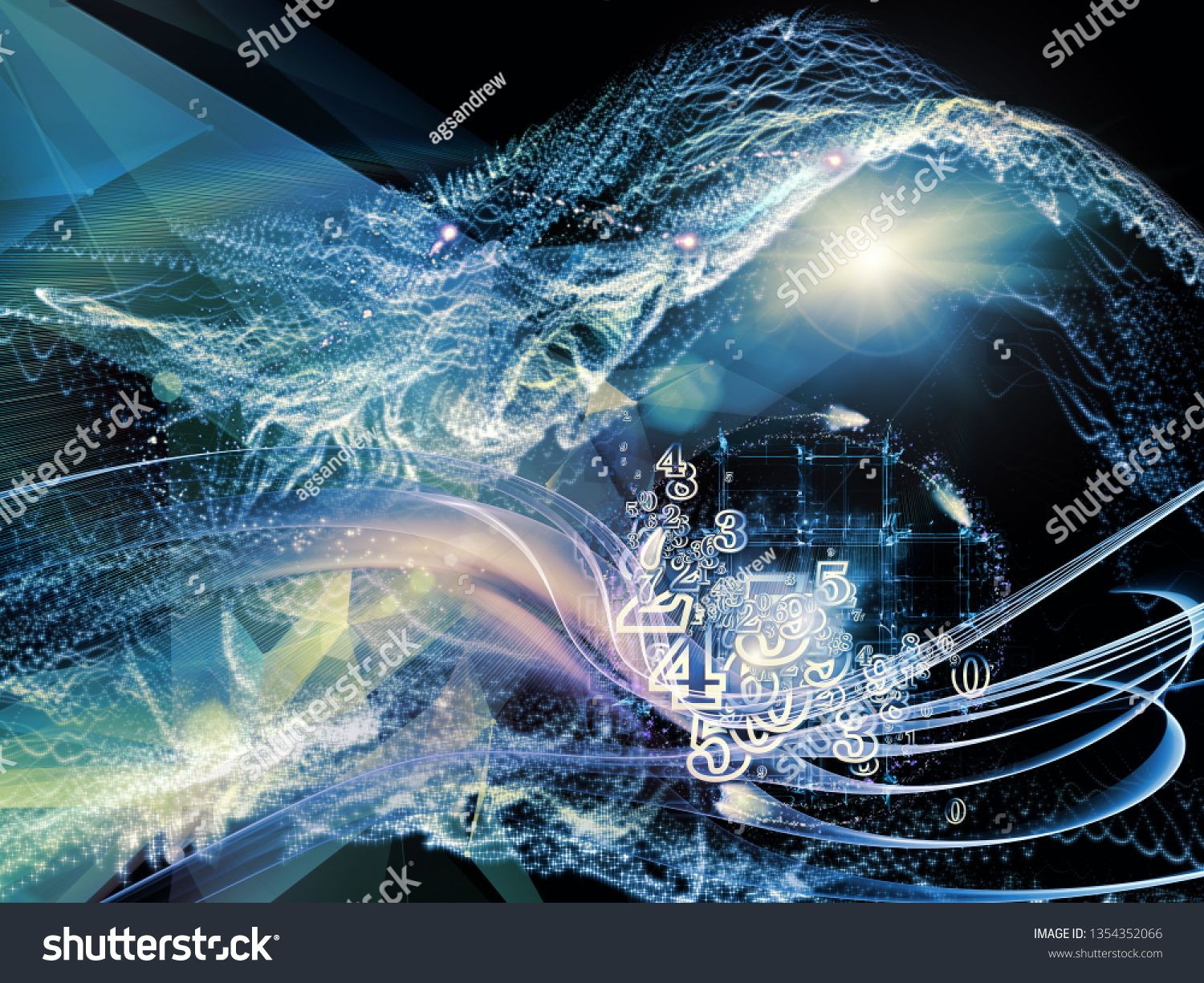 Digital Dreams Series Design Composed Of Technology Background