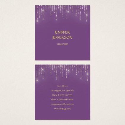Elegant Sparkles \ Glitter Business Card - business template gifts - business invitation template