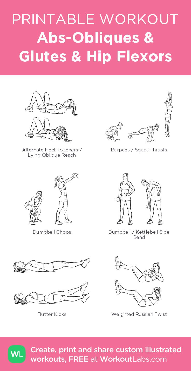 Abs-Obliques & Glutes & Hip Flexors– my custom exercise plan