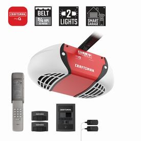 Craftsman 0 75 Hp Myq Smart Belt Drive Garage Door Opener With Myq And Wi Fi Compatibility Lowes Com Craftsman Garage Door Opener Craftsman Garage Door Garage Door Opener Installation
