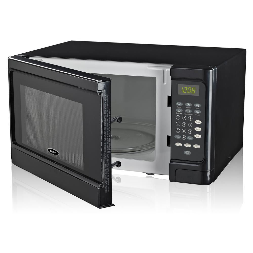 Oster 1 1 Cu Ft Countertop Microwave Black 1000 Watt With Push Button Ogcms311bk 10 With Images Countertop Microwave Black Microwave Countertops