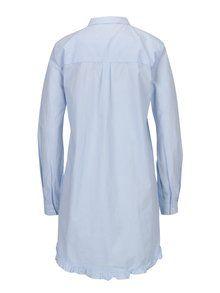 Bielo-modrá dlhá pruhovaná áčková košeľa ONLY Monique  e609e8a29d