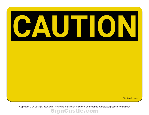 Remarkable image within printable caution signs