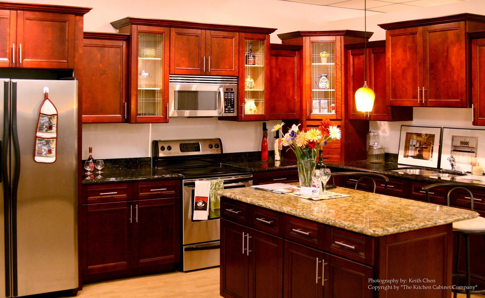 Pin by Haus Design on Kitchens.....   Cherry cabinets kitchen ...
