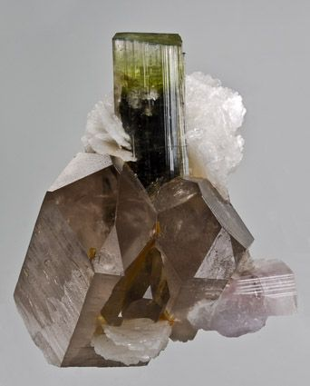 green Tourmaline Smoky Quartz Stak Nala Pakistan / Mineral Friends <3