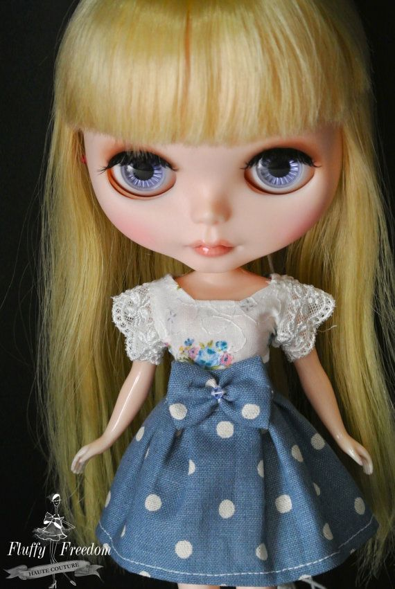 Blythe Dress Cute Blue Dress set by FluffyFreedom on Etsy, $15.00