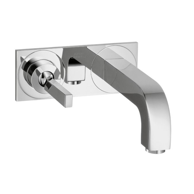 Axor Citterio Wall Mounted Single Handle Faucet Trim With Base Plate