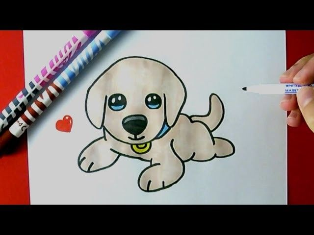 How To Draw A Cute Puppy Easy Puppy Drawing Easy Cute Dog Drawing Cute Puppies