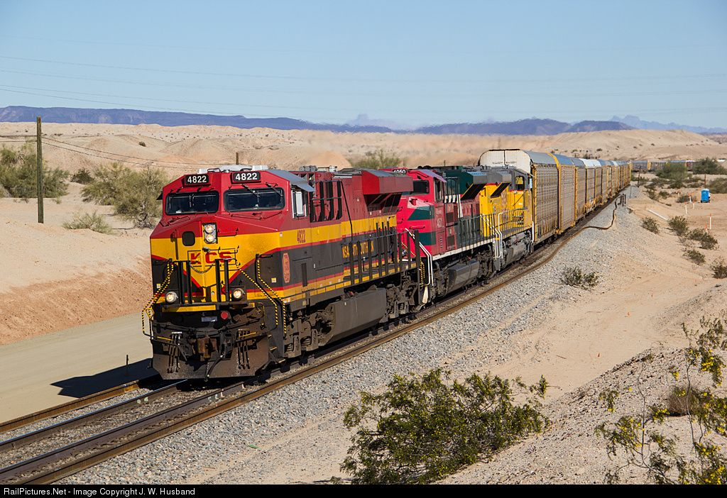 RailPictures.Net Photo: KCS 4822 Kansas City Southern Railway GE ES44AC at Colorado Desert, California