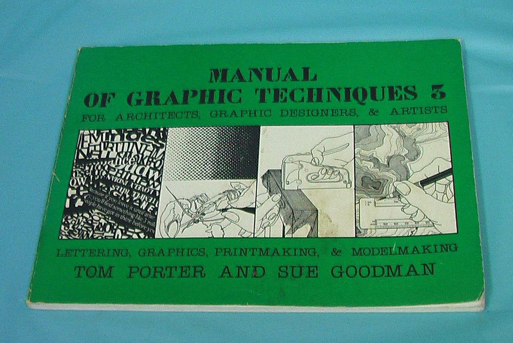 1983 Manual Graphic Techniques Architects Graphic Designers Artists Modelmaking