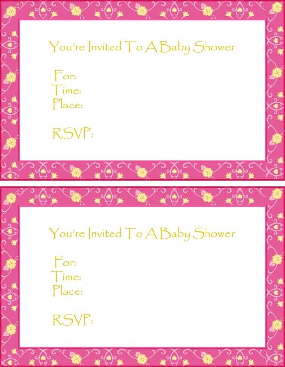 Baby Shower Invitations Free Printable Ecard Baby Shower